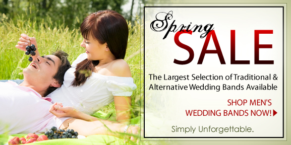 Mens-Wedding-Rings Spring Sale, Get 10% Off!