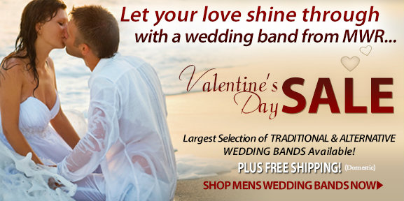 Mens-Wedding-Rings Valentine's Day Sale