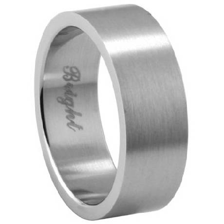Stainless Steel Wedding Band with Flat Brushed Finish 72mm MSS0144