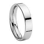 Comfort-fit Tungsten Wedding Ring with Flat Profile and High Polish Finish - 6 mm - MTG0013