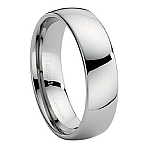 Comfort-fit Wide Tungsten Wedding Band with Slight Dome and Polished Finish – 8 mm - MTG0016