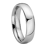 Comfort-fit 6MM Tungsten Wedding Band with Polished Finish – 6 mm - MTG0020