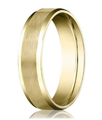 Comfort Fit 18K Yellow Gold Wedding Band