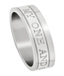 My One and Only Stainless Steel Men's Ring with Polished Finish | 6mm