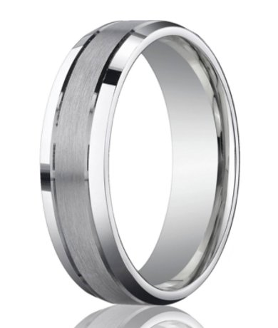 White Gold Male Wedding Band
