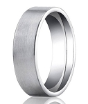 Satin-Finished Palladium Ring with Classic Flat Profile | 6mm - MB0185