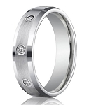 Palladium Wedding Ring with 8 Bezel Set Diamonds | 6mm