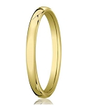 Comfort-fit 14K Yellow Gold Wedding Band with Nouveau-fit Polished Finish – 3.5 mm - MB1031