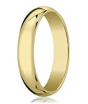 Traditional 14K Yellow Gold Wedding Band with Domed Polished Finish – 6 mm - MB1072