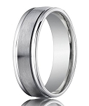 Comfort-Fit Palladium Wedding Band with Spun Satin Finish – 4 mm - MB1159