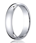 Comfort-Fit Palladium Standard Wedding Band with Polished Domed Finish – 3 mm - MB1162