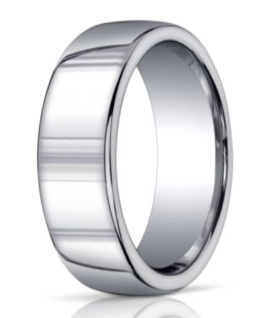 benchmark argentium silver wedding ring with domed band 10mm mbs1028 - Mens Silver Wedding Rings