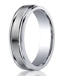 Benchmark Argentium Silver Wedding Band with Polished Round Edges | 5mm