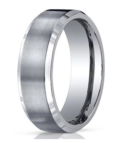 Mens Titanium Wedding Band Satin Finish