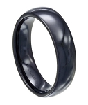 Black Ceramic Wedding Ring  - MC0003