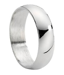 Traditiional Stainless Steel Wedding Band - MSS0057