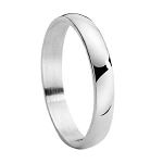Men's Stainless Steel Wedding Band with Domed Profile and Polished Finish | 4mm - MSS0220