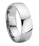 Titanium Wedding Band with High Polish Finish – 7 mm - MT0113