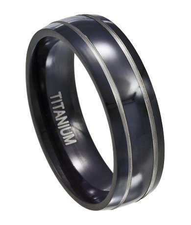 black titanium wedding band mt0121 mt0121 - Black And Silver Wedding Rings