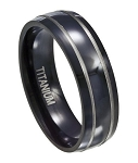 Black Titanium Wedding Band - MT0121