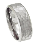 Titanium Wedding Band for Men with Hammered Finish | 8mm - MT0150