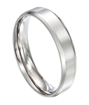 Classic Titanium Wedding Band with Polished Beveled Edges | 6mm