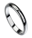 Love Forever Men's Tungsten Wedding Ring with Polished Finish | 6mm