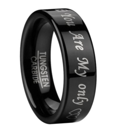 Wedding Ring For Men In Black Tungsten 6mm Mtg0096