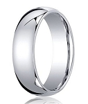 Comfort-Fit Palladium Standard Wedding Band with Polished Domed Finish – 6 mm - MB1165