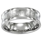 Forever Love Men's Concave Titanium Wedding Band | 8mm