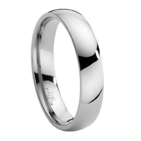 Mens Classic Titanium Wedding Band