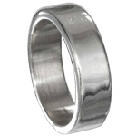 Traditional Sterling Silver Wedding Band with High Polish Finish – 6 mm - MP2335