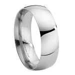 8mm Stainless Steel Wedding Ring - MSS0098