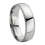 Titanium Wedding Ring with Decorative Ridge and Polished Finish – 7 mm - MT0115