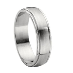 Titanium Brushed Finish Wedding Band - MT0118