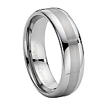Comfort-fit Tungsten Wedding Band with Dual Finish - 8 mm - MTG0003