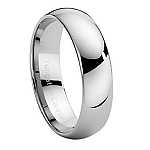 Comfort-fit Classic Tungsten Wedding Band with Slight Dome and Polished Finish – 7.7 mm - MTG0015