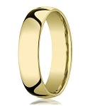 Designer 10K Yellow Gold Wedding Band with Domed Comfort Fit – 8 mm - MB1006