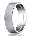 Designer Platinum Men's Wedding Ring With Flat Profile | 6mm