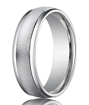 Designer Platinum Men's Wedding Ring with Wired Finish | 6mm