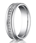 Designer Platinum Men's Band With 36 Channel Set Diamonds | 6mm