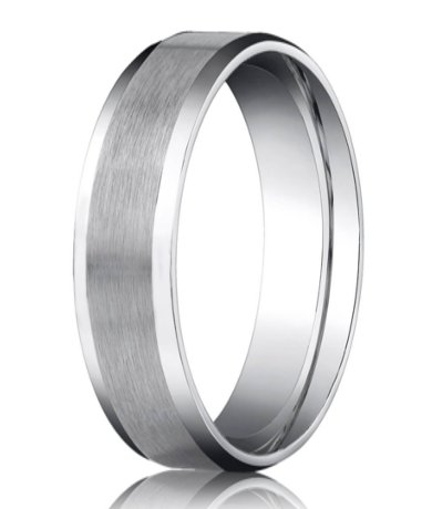 Palladium Men S Wedding Band Polished Beveled Edges
