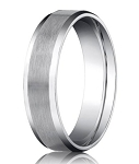 Palladium Men's Wedding Band with Polished Beveled Edge | 6mm