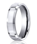 Palladium Men's Wedding Band with Slight Beveled Edges | 6mm
