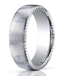 Palladium Men's Wedding Ring with Rivet Coin Edge | 7.5mm