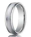 Palladium Men's Wedding Ring with Wired Finish | 6mm