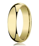 Men's Designer 10K Yellow Gold Wedding Band with Domed Profile | 6mm