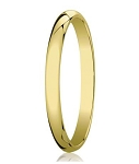 Designer 3 mm Domed Comfort-fit 18K Yellow Gold Wedding Band - MB1305