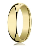 Designer 10K Yellow Gold Wedding Band with Domed Comfort Fit – 5mm - MB1003
