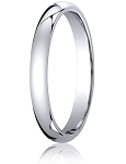 Designer 10K White Gold Wedding Band with Domed Comfort Fit – 3 mm - MB1007